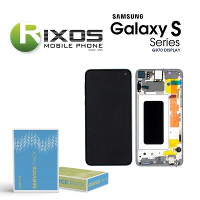 Samsung Galaxy S10e (SM-G970F) Display unit complete prism silver GH82-18852F