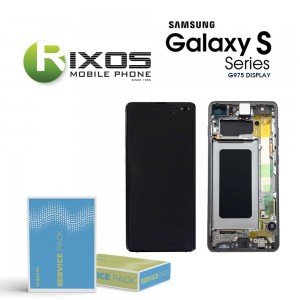 Samsung Galaxy S10 Plus (SM-G975F) Display unit complete prism black / ceramic black GH82-18849A