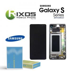 Samsung Galaxy S10 Plus (SM-G975F) Lcd Display unit complete prism black / ceramic black GH82-18849A OR GH82-18834A