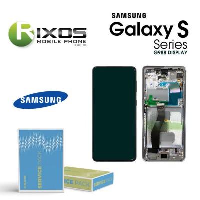 Samsung Galaxy S21Ultra 5G ( SM-G998 No Camera ) Lcd Display unit complete Phantom Silver GH82-26035B OR GH82-26036B