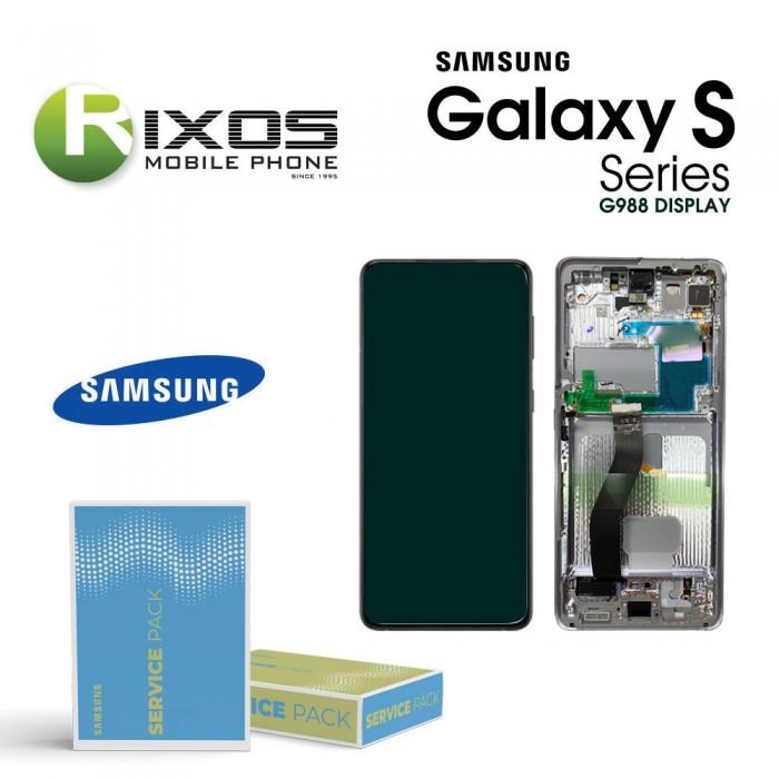 Samsung Galaxy S21Ultra 5G (SM-G998 With Camera ) Lcd Display unit complete Phantom Black GH82-24590A OR GH82-24989A