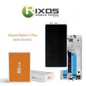 Xiaomi Redmi 5 Plus Display unit complete white (Service Pack) 560410018033