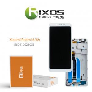 Xiaomi Redmi 6, Redmi 6A Display unit complete white (Service Pack) 560410028033