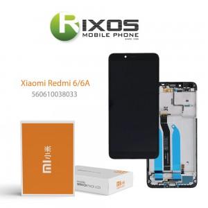 Xiaomi Redmi 6, Redmi 6A Display unit complete black (Service Pack) 560610038033
