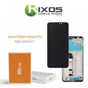 Xiaomi Redmi Note 6 Pro Display unit complete (Service Pack) black 5606100640C7