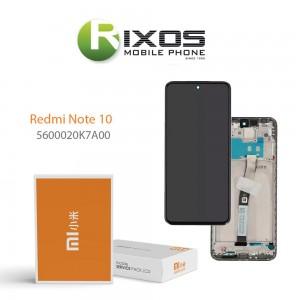 Xiaomi Redmi Note 10 Lcd Display unit complete Black 5600020K7A00