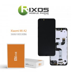 Xiaomi Mi A2 (Mi 6X) Display unit complete black (Service Pack) 5606100530B6