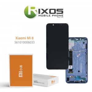 Xiaomi Mi 8 Display unit complete blue (Service Pack) 561010006033