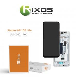 Xiaomi Mi 10T Lite Lcd Display unit complete pearly gray / tarnish  5600040J1700
