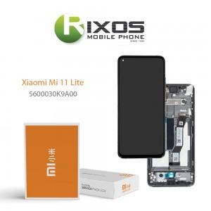 Xiaomi Mi 11 Lite Lcd Display unit complete K9A Black 5600030K9A00