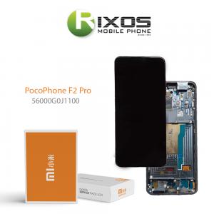 Xiaomi Poco F2 Pro Display unit complete black (Service Pack) 56000G0J1100
